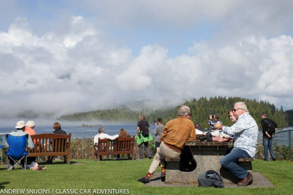 Picnic lunch stop in scenic Tofino, BC