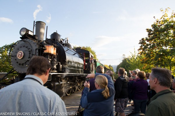 Surprise steam train ride to Saturday dinner in Port Alberni, BC
